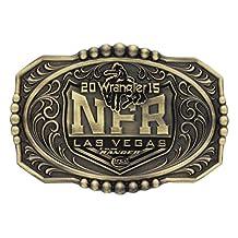 Wrangler Belt Buckle Ranger Attitude NFR 2015 Logo Gold Black NFR215