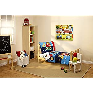 Everything Kids by NoJo Toddler Bedding Set, Under Construction