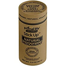 Stick up Deodorant Organic Natural Deodorant White Coconut -USA Made -New Formula Now Helps You de-Stink Before You Sweat! No Baking Soda, No Rash, Odor Elimination! All Natural, Vegan, Gluten Free