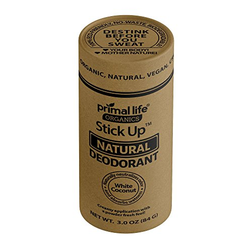 Stick Up Deodorant Organic Natural Deodorant White Coconut -USA Made -New Formula Made with Hemp Seed Oil! No Baking Soda, No Rash, Odor Elimination! All Natural, Vegan, Gluten Free ()