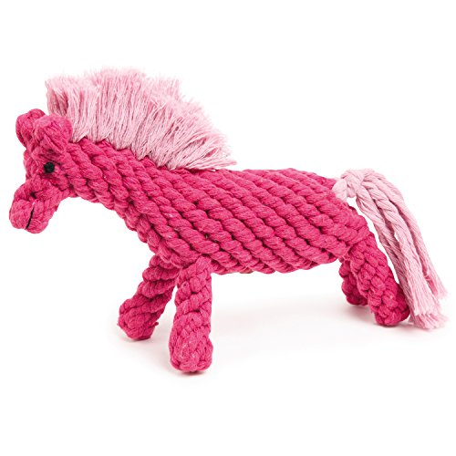 Zanies Cotton - Zanies Rope Horse Dog Toys, Pink, 10.5