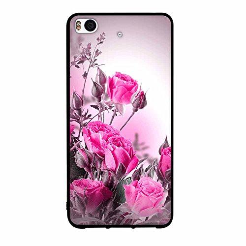 Funda Xiaomi Mi 5s, FUBAODA [Flor rosa] caja del teléfono elegancia contemporánea que la manera 3D de diseño creativo de cuerpo completo protector Diseño Mate TPU cubierta del caucho de silicona suave pic: 13