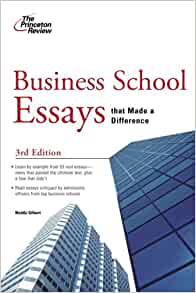 business school essays that made a difference review Business school essays that made a difference, 5th edition: princeton review: 9780307945235: books - amazonca.