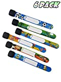 ID Safety Wristbands Infobands Bracelets for Kids Child Travel Event Field Trip, Outdoor Activity, Reusable Adjustable(Set of 6 Boy)