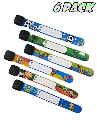 ID Safety Wristbands Infobands Bracelets for Kids Child Travel Event Field Trip, Outdoor Activity,...