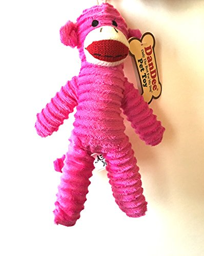 Dan Dee Only The Best for My Dog Pet Sock Monkey Toy (Pink)