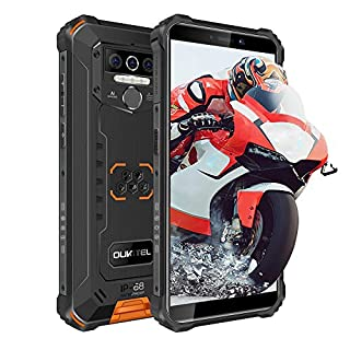 OUKITEL WP5 Pro Rugged Phones - Unlocked Smartphones, 8000mAh Helio A25,IP68 Waterproof Cell Phones 5.5 inch Android 10.0 4+64 ROM 5MP+13MP US Version, NFC(Orange)
