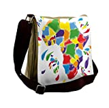 Lunarable Abstract Messenger Bag, Africa Continent Countries, Unisex Cross-body