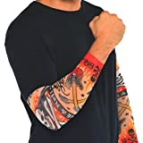 Amscan Rock On Heavy Metal Themed Party Tattoo Sleeves Accessory, Fabric, Standard Adult Size, Pack of 10