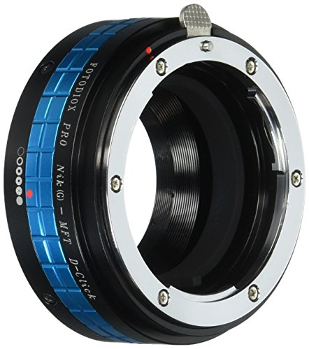 Fotodiox Pro Lens Mount Adapter - Nikon Nikkor F Mount G-Type D/SLR Lens to Micro Four Thirds (MFT, M4/3) Mount Mirrorless Camera Body, with Built-In Aperture Control Dial