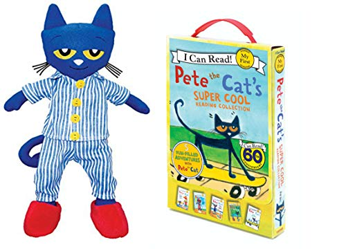 Pete The Cat Bundle with 14.5 Plush Doll and Pete The Cats Reading Collection (My First I Can Read), 5 Book Set (Bedtime Pete)]()