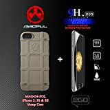 Magpul Bump Case for iPhone 5/5s and iPhone SE, Solid Foliage (MAG454-FOL) with EGO 9H Shatter-Proof Tempered Glass Screen Protector Combo-Pack
