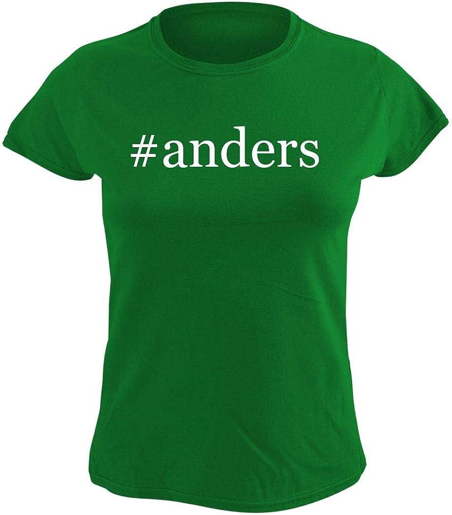 #anders - Women's Hashtag Graphic T-Shirt, Green, Medium