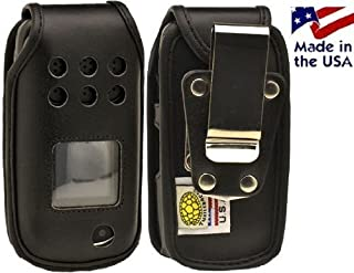 product image for Turtleback Fitted Case Made for Samsung A997 Rugby 3 III Phone Black Leather Rotating Removable Metal Belt Clip Made in USA
