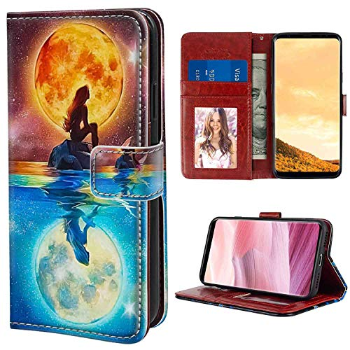Samsung Galaxy S8 Plus Wallet Case (2017) [6.2 Version] Mermaid with Card Holder (The Real Version Of The Little Mermaid)