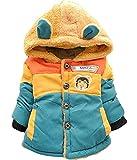 Toddler Baby Boy 3D Bear Winter Warm Jacket Outwear Kids Hoodie Coat