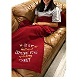 color mogu This is My Hallmarlk Christmas Movie Watching Blanket Christmas Plush Throw Blanket for Couch Sofa Bed?43x71 Inches
