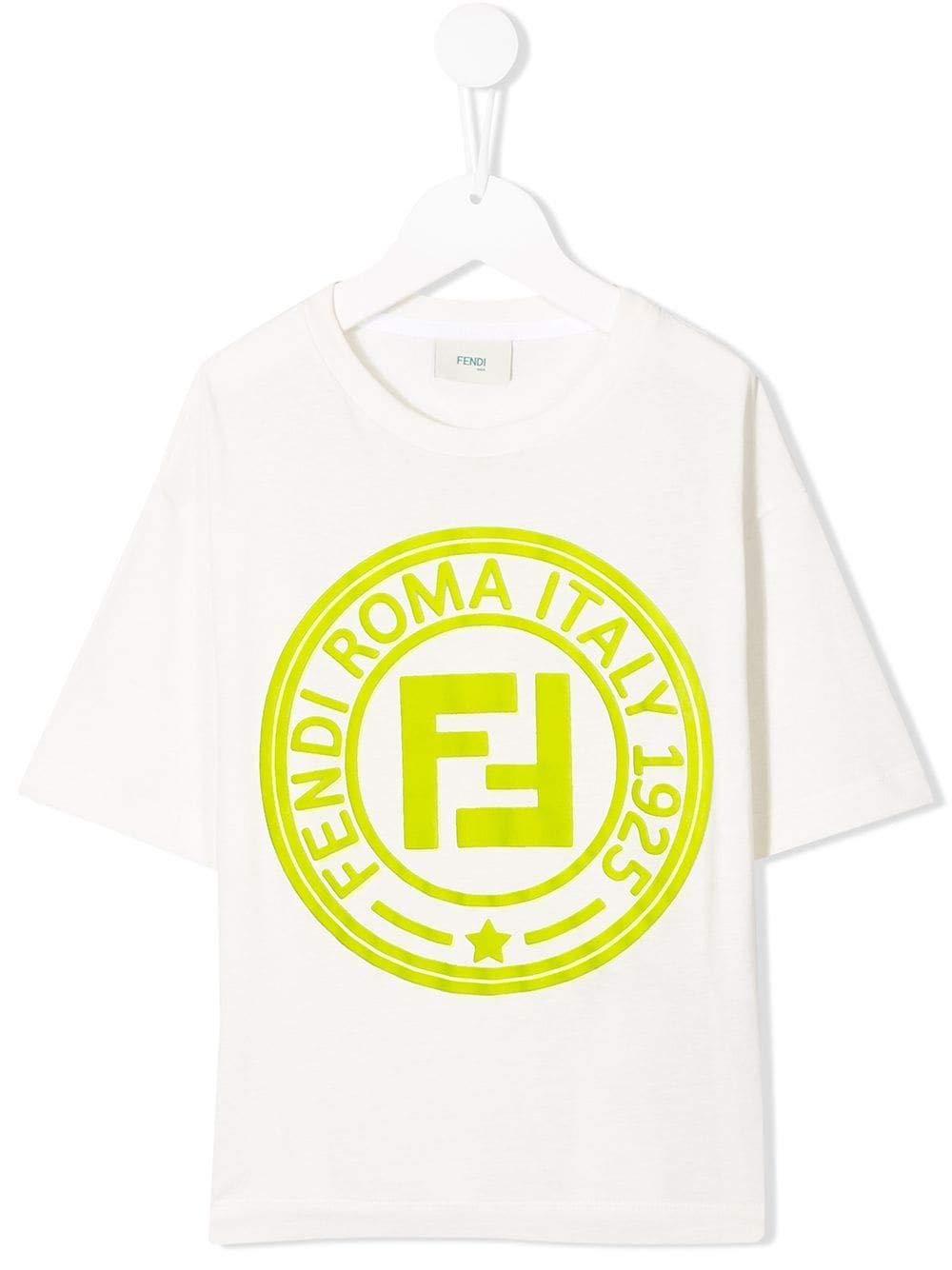 FENDI Boys Jmi2747ajf16wf White Cotton T-Shirt
