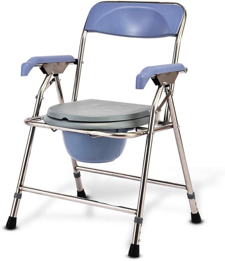 Disabled Toilet Chair Bath Chair,Safety Shower Stool Wheel Bath Stool,Elderly Pregnant Women Adult Children Shower Chair,Can Bear 180Kg Energy Level,A