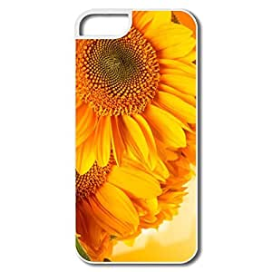 IPhone 5S Cases, Golden Sunflowers White Cases For IPhone 5S by icecream design
