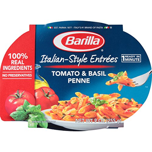Barilla Italian-Style Entrees, Tomato & Basil Penne, 9 Ounce (Pack of 6) (Best Low Calorie Lunch)