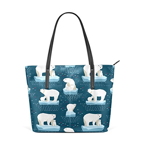 Handbag Handle Leather PU Bags Bear Shoulder Totes Purses TIZORAX Fashion Top Women's Polar IW8U4IwqxY