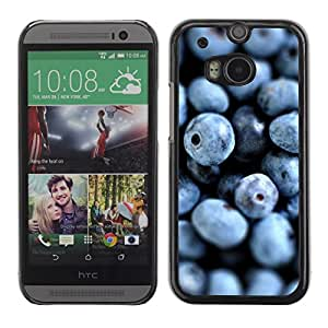 Soft Silicone Rubber Case Hard Cover Protective Accessory Compatible with HTC ONE? M8 2014 - blueberries fresh vitamins healthy forest