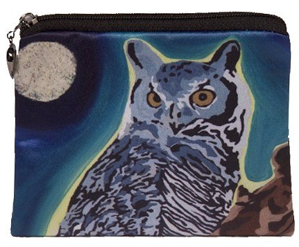 One Shoulder Animal - Salvador Kitti Owl Vegan Change Purse, Coin Purse - Animals - from My Original Paintings - Support Wildlife Conservation, Read How (Owl - The Wise One)