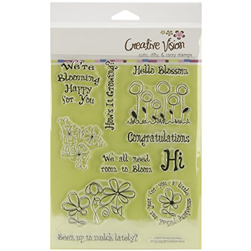 "UPC 700112205859, Clear Stamps 6""X8""-Blooming Happy"