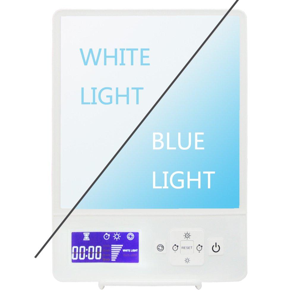 EnjoyNaturalSunLifeC Seasonal Affective Disorder Energy Light Lamp For Sad Depression With Customizable Daylight/Blue Intensity&Mode,Full Spectrum-10,000Lux Daylight/200Lux BlueLight Therapy Light Box