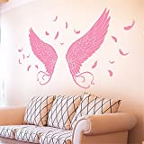 YUMULINN wallpaper stickers Wallpapers murals Angel Wings Wall Stickers Bar KTV Internet Cafe Studio Photography Bedroom Room Background Wall Decoration Stickers, 50X70CM