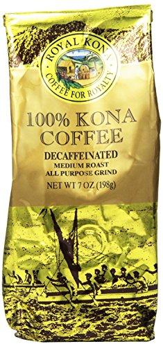 Queen Kona 100% Kona Coffee, Decaf, Medium Roast, Ground, 7 Ounce