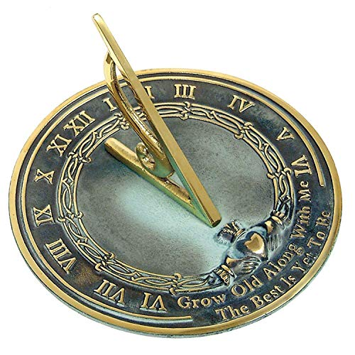 ANTIQUECOLLECTION Brass Sundial Grow Old - Old Grow Sundial With Me