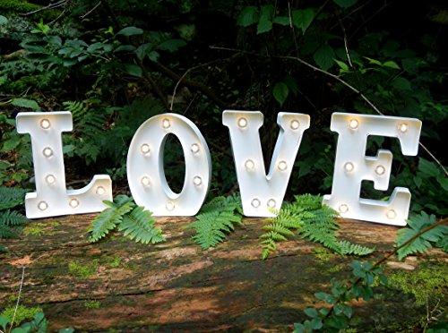 Darice 5915-Lovewm Love Marquee Wall Décor
