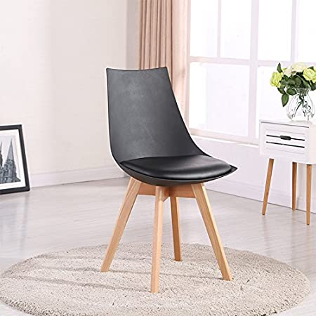 Designetsamaison Chaise scandinave Noire Prague: