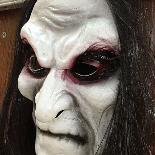 Scary Black Hair Blooding Ghost Mask Cosplay Halloween Costumes Party Prop -
