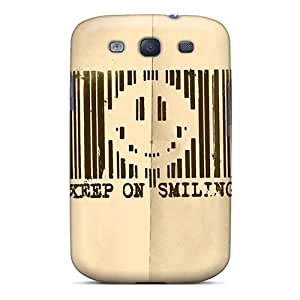 Galaxy S3 Case Bumper Tpu Skin Cover For Keep On Smiling Accessories