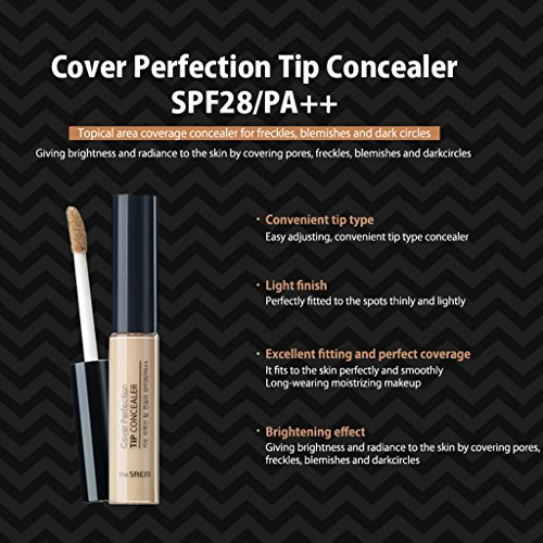 [the SAEM] Cover Perfection Tip Concealer SPF28 PA++ 6.5g (#2 Rich Beige)