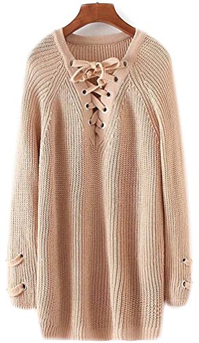 Manteau Femme Tricots Femme Coton Veste Feminin Col Maille Beige Hiver Synthetic Automne V Pull Taille Chandail Grosse Manche Sweater Longue Sweaters Grande Tops 0IHHw