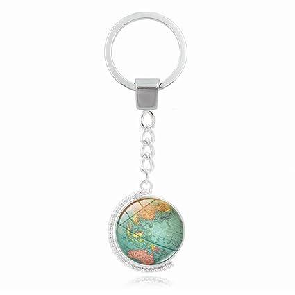 artistic9 (TM) rotación Retro Mapa del mundo Gemstone ...
