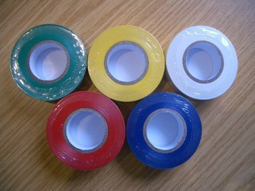 White Electrical PVC Insulation Insulating Tape 19mm Wide x 20 Metres (Tape Pvc Insulation Electrical)
