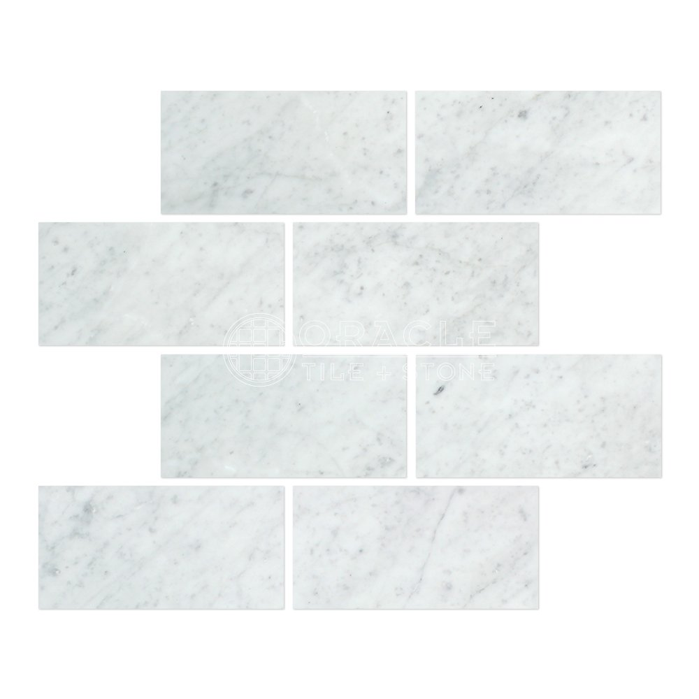 Carrara marble italian white bianco carrera 3x6 marble subway tile carrara marble italian white bianco carrera 3x6 marble subway tile honed marble kitchen tile amazon dailygadgetfo Choice Image