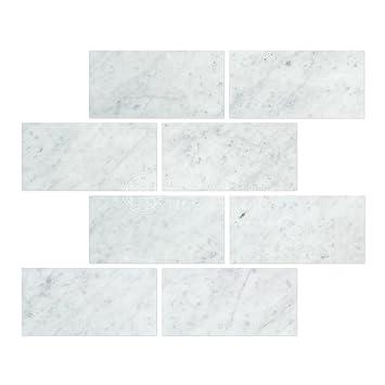 Carrara Marble Italian White Bianco Carrera 3x6 Marble Subway Tile Honed. Carrara Marble Italian White Bianco Carrera 3x6 Marble Subway Tile
