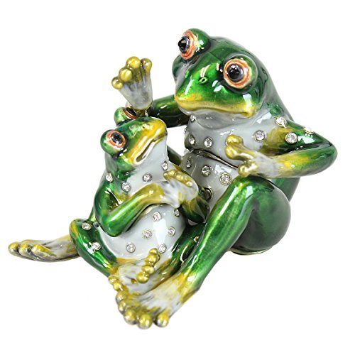 (EchoMerx Word of The Day Frogs Trinket Box Bejeweled Tree Frog Whimsical )