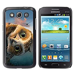 EJOY---Cubierta de la caja de protección la piel dura para el / Samsung Galaxy Win I8550 / --DIVERTIDO FRIENDLY OWL