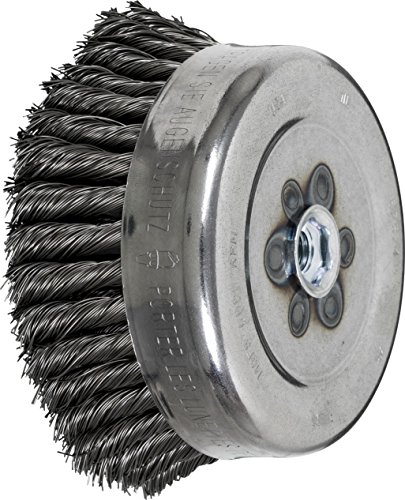 PFERD 82574 Full Cable Twist Knot Cup Brush, Carbon Steel Wire, 6