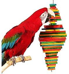 Bonka Bird Toys 1812 Large Double Pyramid Bird Toy parrot cage toys cages macaw amazon cockatoo