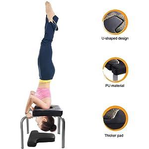 Amazon.com : Ejoyous Yoga Headstand Bench, Yoga Inversion ...