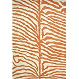 Alliyah Handmade Orange New Zealand Blend Wool Rug (6  Square)