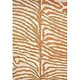 Alliyah Handmade Orange New Zealand Blend Wool Rug (6  Square)